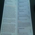 mooie menukaart met duidelijke uitleg over de bieren