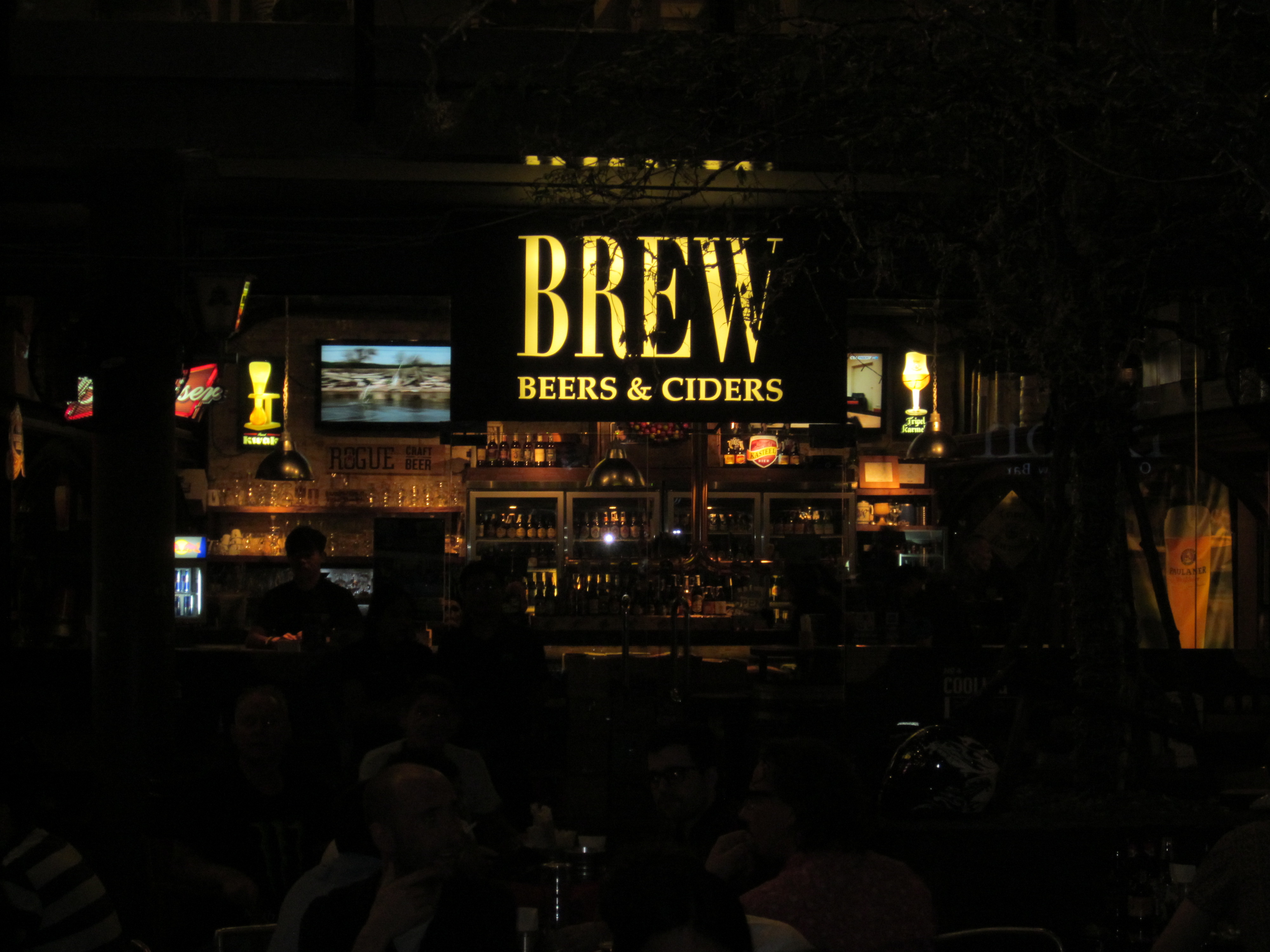 Het terras van Brew Beers & Ciders